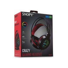 Snopy SN-GX7 CRAZY Siyah Ledli Mikrofonlu Oyuncu Kulaklığı