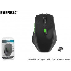 Everest SMW-777 Usb Siyah 2.4Ghz Optik Wireless Mouse